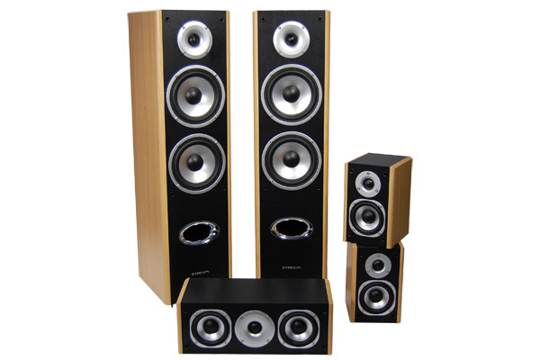 Streem HT-335 home audio speakers without grills