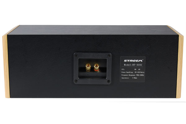 Streem HT-335C center channel rear view